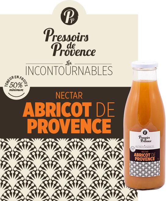 incontournables nectar abricot de provence artisanale - pressoirs de provence