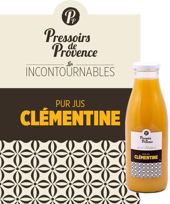 incontournables pur jus de clementine artisanale - pressoirs de provence