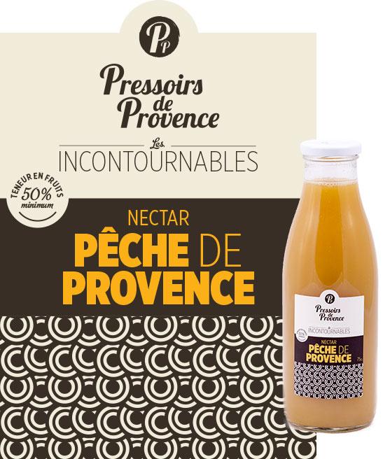 incontournables nectar de peche de provence artisanale - pressoirs de provence