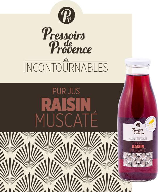 incontournables pur jus de raisin muscate artisanale - pressoirs de provence